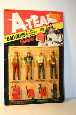 THE BAD GUYS, 4-Pack with Accessories